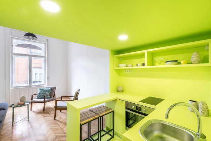 Chic 3in1 apartment designed with a touch of vivid colours by batlab architects - CAANdesign | Architecture and home design blog