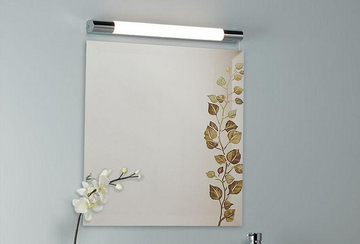 Wystrój wnętrz - lustro z liśćmi