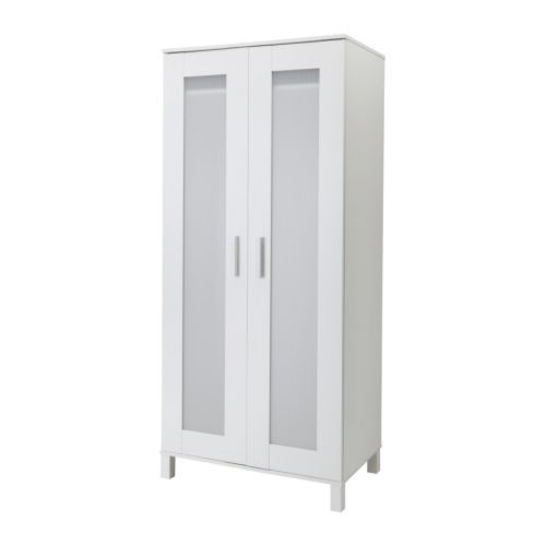 "ANEBODA  Wardrobe, white  $99.99 Product dimensions  Width: 31 7/8 ""  Depth: 19 5/8 ""  Height: 70 7/8 ""    Width: 81 cm  Depth: 50 cm  Height: 180 cm"