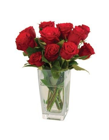 red roses in vase - Google Search