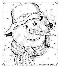 Snowman | Christmas coloring pages, Christmas drawing ...