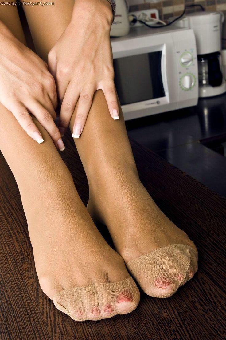 Feet pedicure pantyhose fetish 1 8