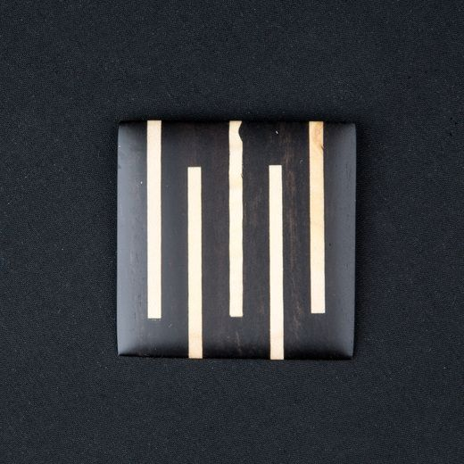 Georges Larondelle, SQUARE BROOCH - EBONY W/ MAPLE STRIPES