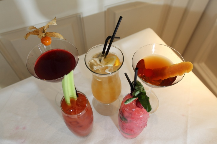 Fresh fruits and herbs served in the top five contemporary, classic and unique cocktail creations at North Bridge Brasserie in Edinburgh.