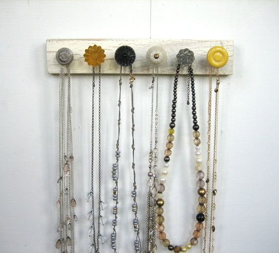 how to make a homemade necklace holder