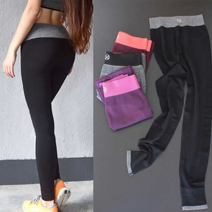 B.BANG Women Sport Running Pants Gym Tights for Female Fitness Leggings Quick Drying Trousers Elastic Capris ropa deportiva