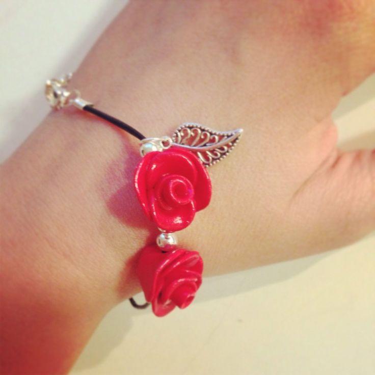 Clay roses. Rosor av fimolera. Alla hjärtans dag. Valentines day.