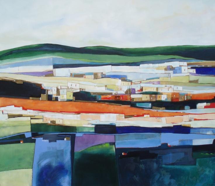 Pinturas en tela de Paulina Beyer  Artista chilena