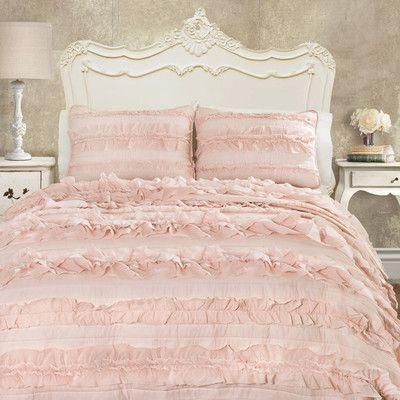 Lark Manor Julien Quilt Set Color: Pink Blush, Size: Full/Queen