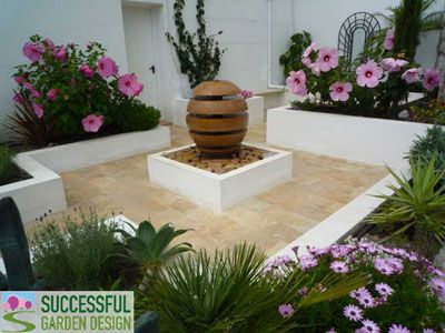 spanish courtyard garden via successful garden design blog