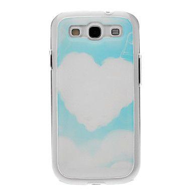 Heart-Shaped Disegno del modello Neutro Silicone Gel Custodia Cover posteriore Stiffiness Cloud per Samsung Galaxy S3 I9300 – EUR € 4.79