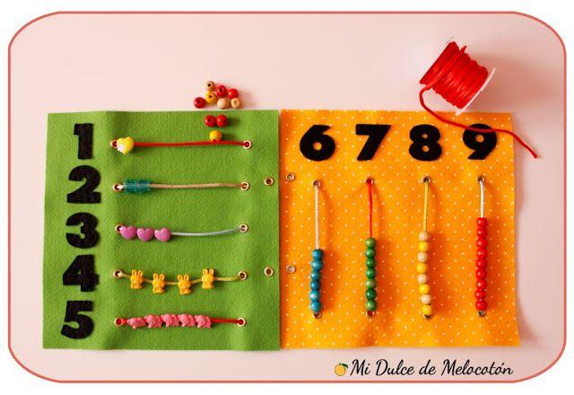 """3 motivos para hacer un """"quiet book"""" - Aprendiendo matemáticas"""
