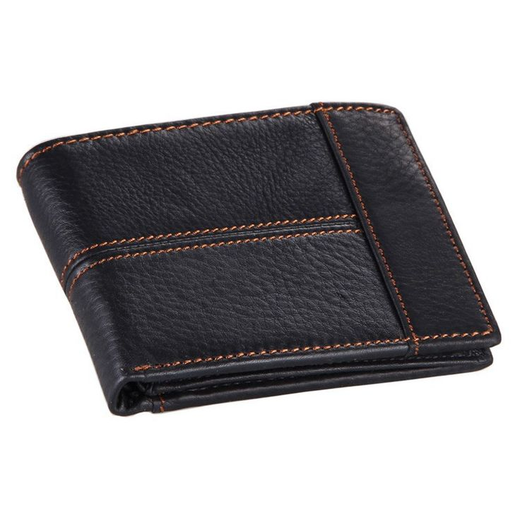 100% Top Quality Genuine Leather Men Wallets Short Male Purse with Coin Pocket Driver Liscense Holder Carteira Masculina #J8064