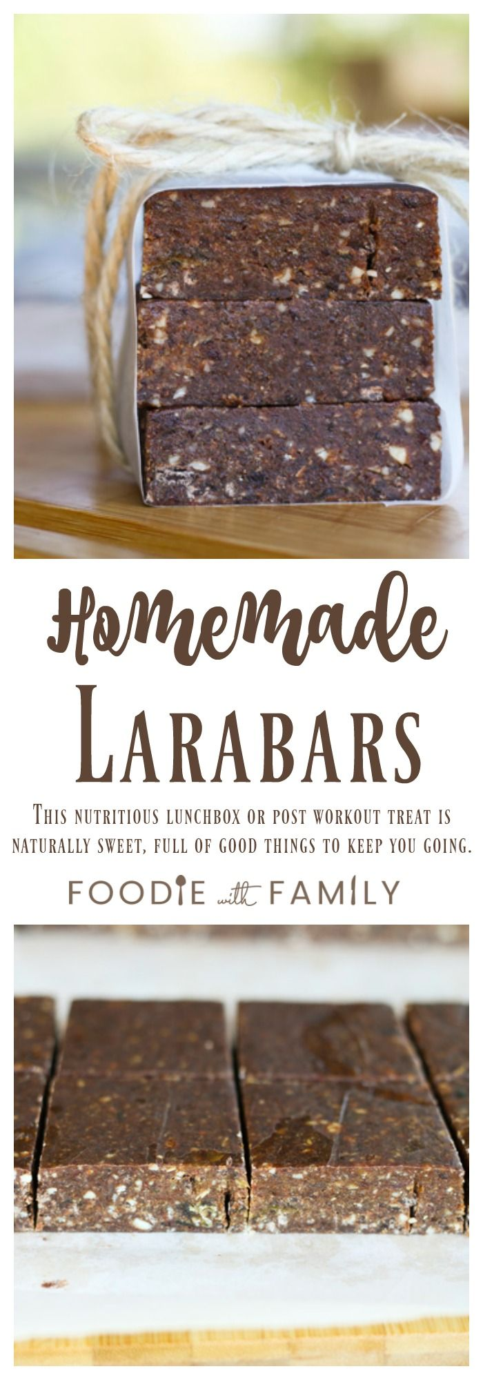 Homemade Larabars: This super nutritious, delicious lunchbox or post workout snack tastes more like candy bars than health food!