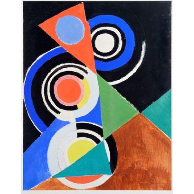 """Sonia Delaunay. Composition pour jazz, 2e série, No F 344"""", Paris 1952"""