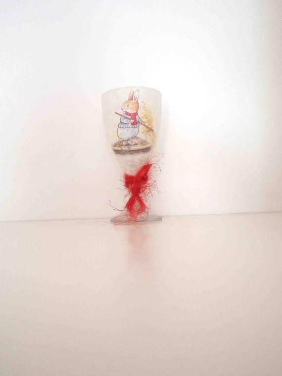 Glass Candleholder for Tea Light Unique by KyriakisAtelier on Etsy