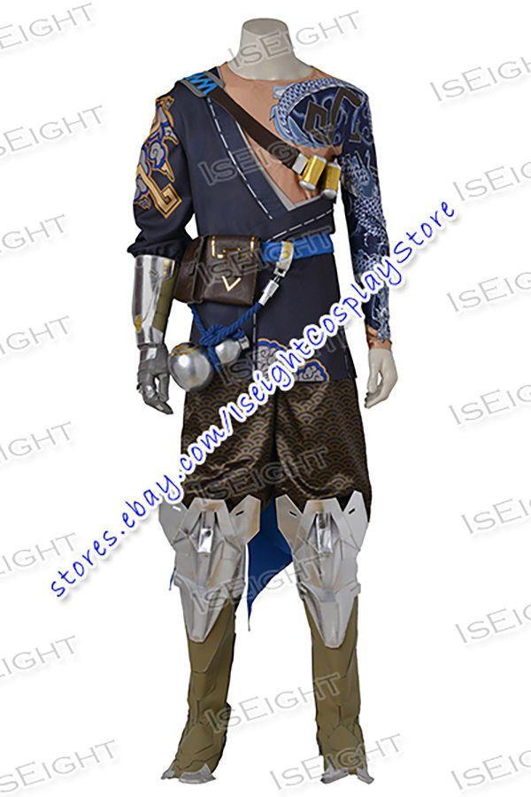 Overwatch Hanzo Shimada Cosplay Costume Halloween Cool Full Set Uniform Outfit