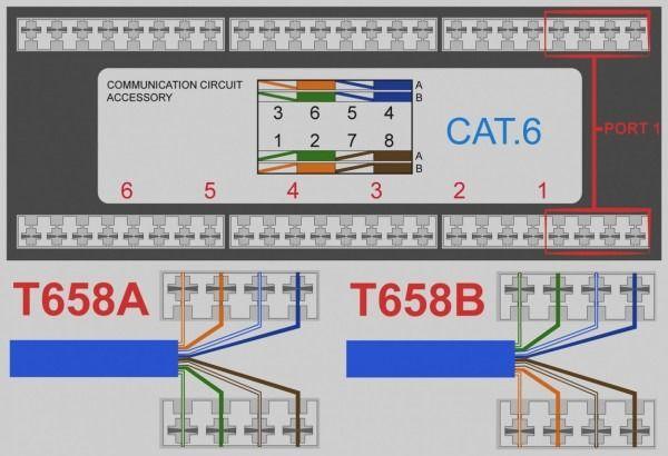 Rj45 Socket Wiring Diagram Phone Jack Wall Jack