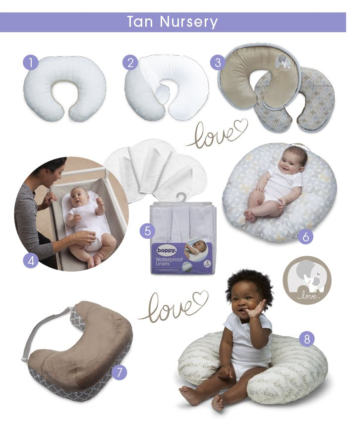 Tan Nursery:   Tan doesn't have to mean boring – style your nursery with Boppy!