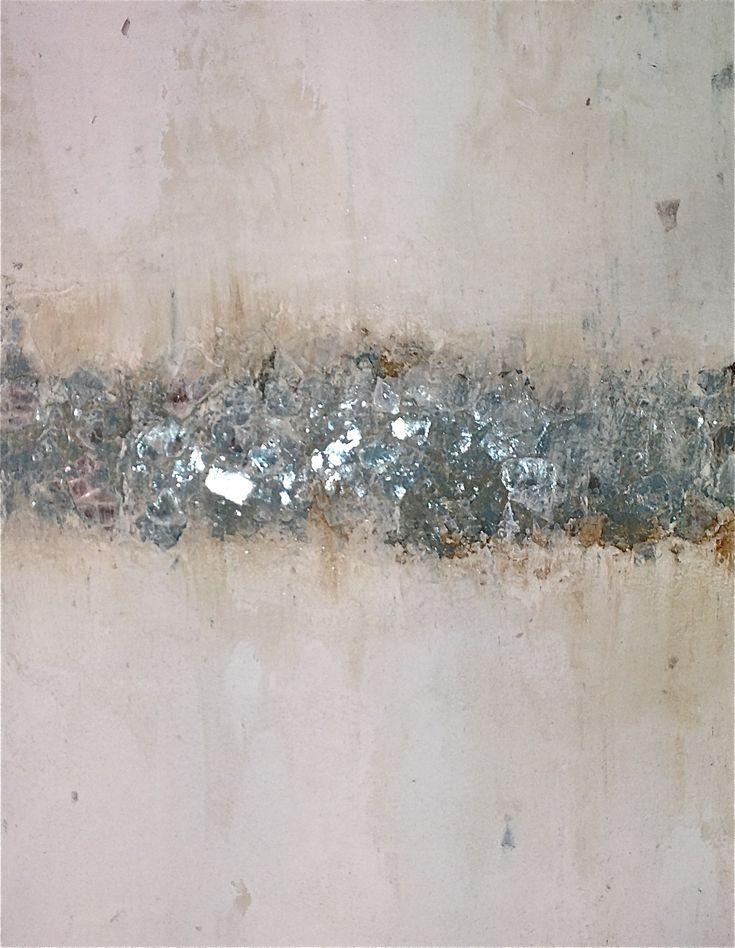 mica with distressed plaster