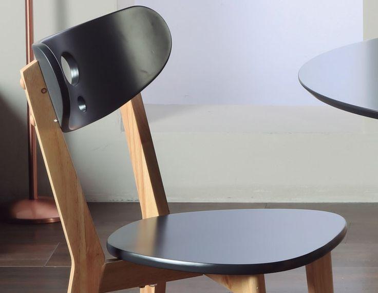 ensemble table et chaise moderne noir en bois napa 2