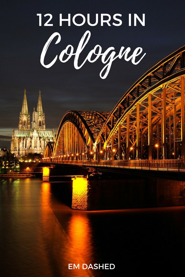 Wondering what to do with just 12 hours in Cologne, Germany? Here are a few suggestions -- including the Kölner Dom, the Hohenzollern Bridge, Kölsch beer, and more. | #Cologne #Germany | Photo by kalle2709 (Pixabay)