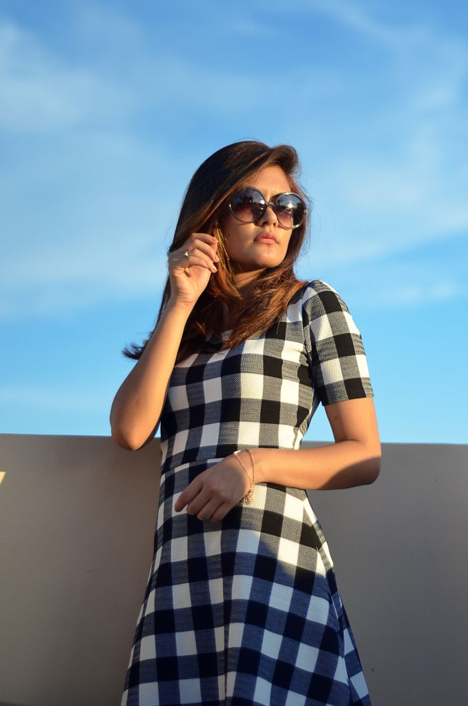 OOTD - Checkered Dress
