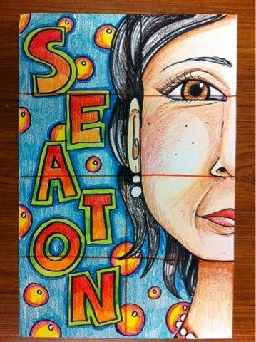 Half Face Self portraits- cute back to school art project