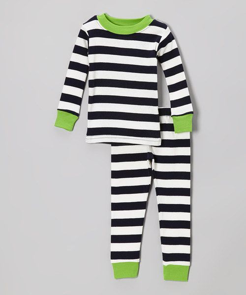 Have little ones giving a cheer for sweet, beddy-bye dreams whenever this adorable set is brought out. Crafted from soft organic cotton, the top and bottoms both pull on with ease and feature cozy cuffs for snug fitting. Size note: For your children's safety, this item is designed to fit snugly as it is not flame-resistant.
