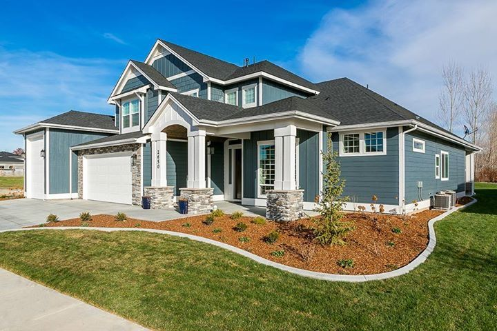 New Home Sherwin Williams Grays Harbor 6236 Snowbound Trim Build Pinterest Sherwin