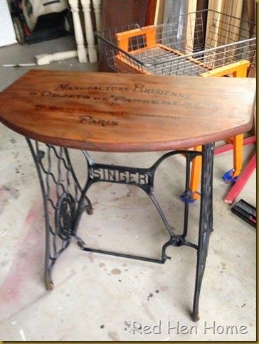 Red Hen Home treadle table 3