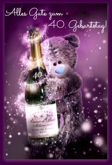 Teddybär: Alles gute zum 40 Geburtstag!
