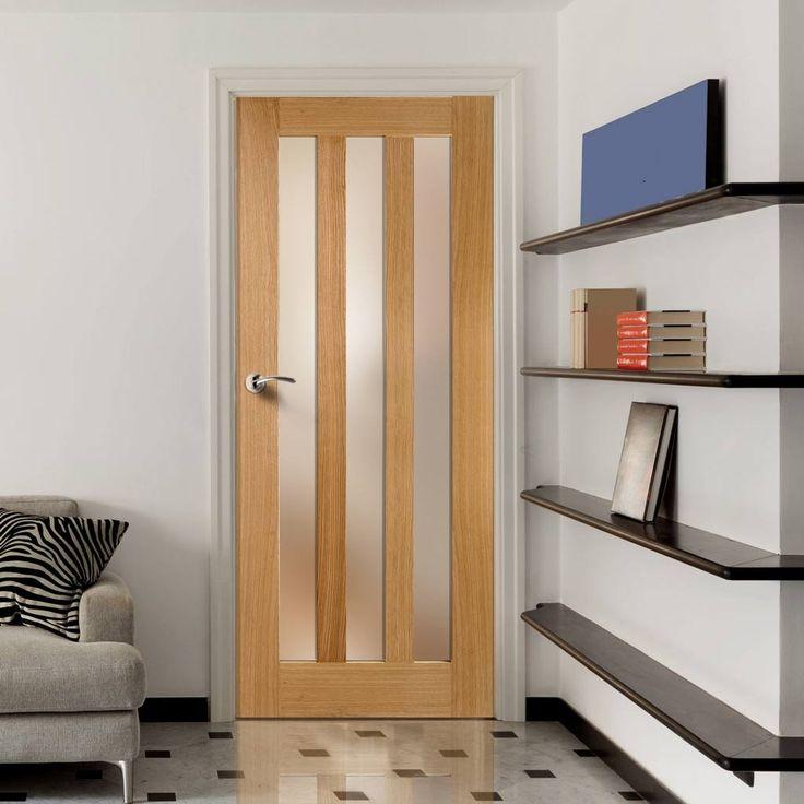 Utah Oak Door with Frosted Safety Glass. #shakerstyledoor #oakglazeddoor #glazedinternaldoor