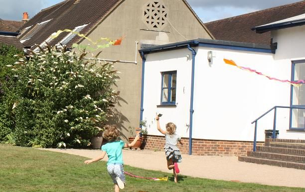 flying the kites we made