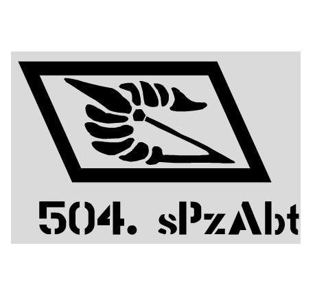 Aufkleber 504. sPzAbt / mehr Infos auf: www.Guntia-Militaria-Shop.de