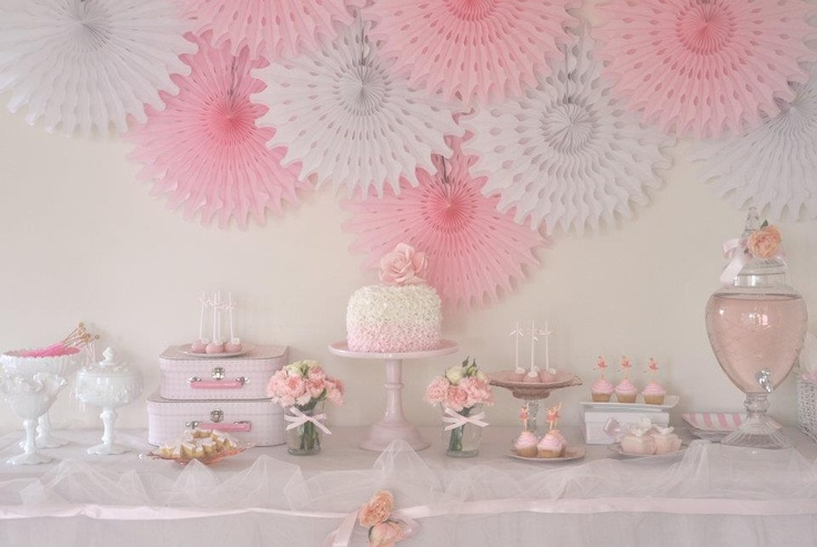 Pale pink and grey - beautiful!Ballet Parties, Ballerinas Birthday, Parties Ideas, Parties Desserts, Girls Parties, Desserts Tables, Pink Parties, Birthday Ideas, Ballerinas Parties