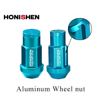 Aluminum wheel nuts with custom color for sale