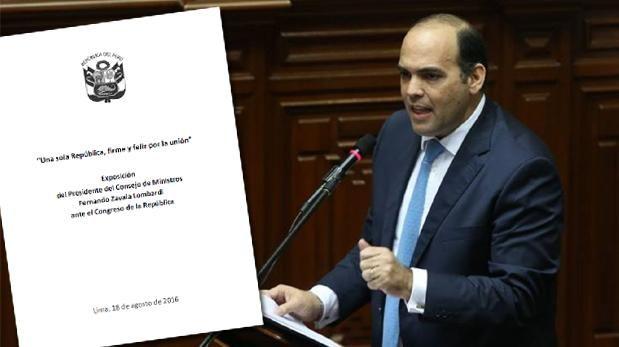 Descarga el discurso de Fernando Zavala ante el Congreso