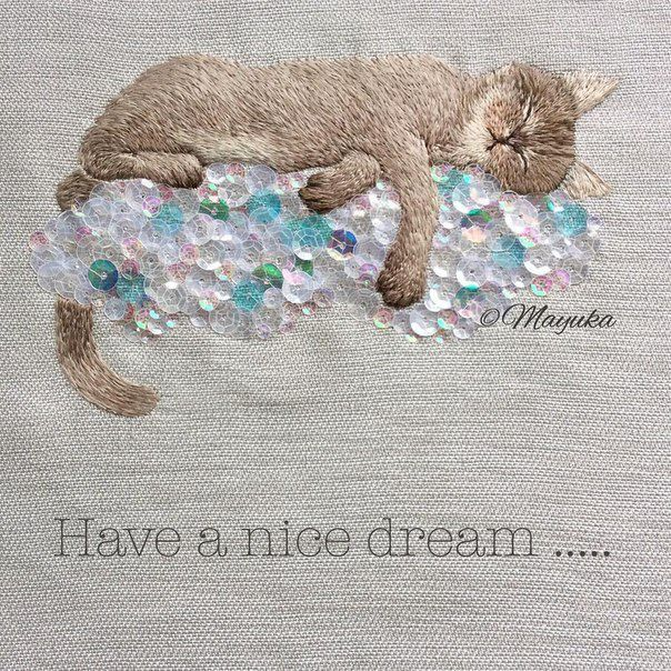 Amazing embroidery by Mayuka Morimoto Oyanagi