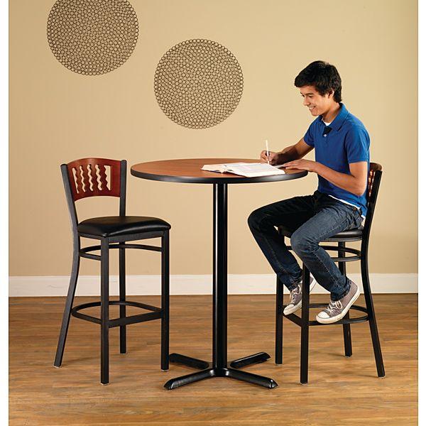 Demco.com - Premier Cut-out Wood Finish Back Café Chairs & Stools