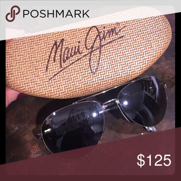 Maui Jim Pilot aviators Brand new. Silver metal frames. Black lenses Maui Jim Accessories Sunglasses