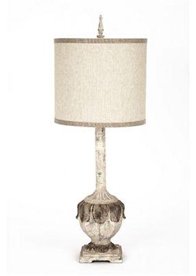 Gallery Designs Lighting Heavy Linen Shade On Aged Gray Cream Base