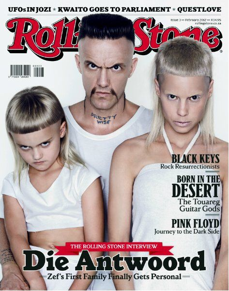 Die Antwoord ninja. Yolandi and daughter sixteen