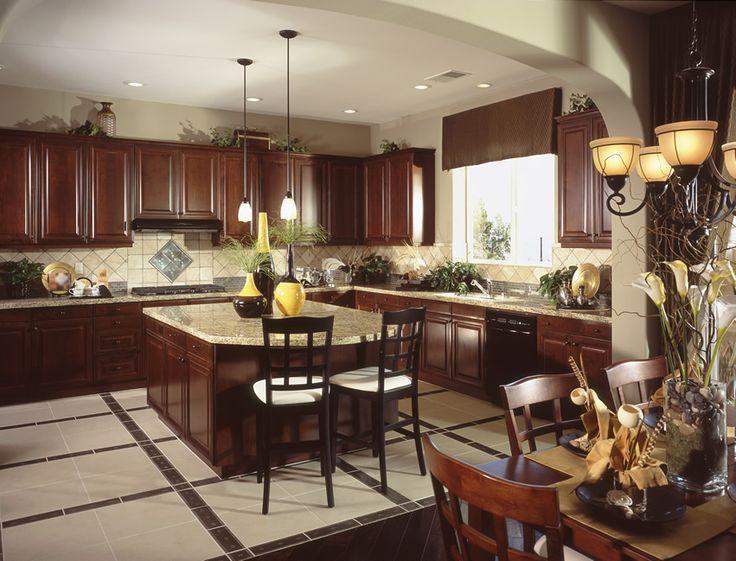 37 L Shaped Kitchen Designs U0026 Layouts (Pictures). Dark Wood ...
