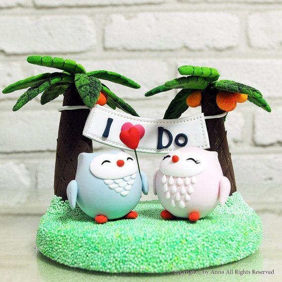 Love birds 'I Do banner wedding cake topper Deco Gift by heartbear, $100.00