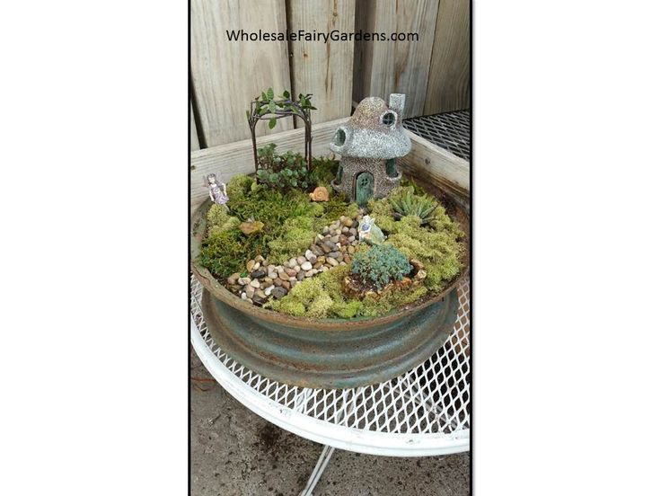 Miniature Garden Furniture Wholesale 209 best completed fairy gardens images on pinterest fairies what a great way to upcycle workwithnaturefo