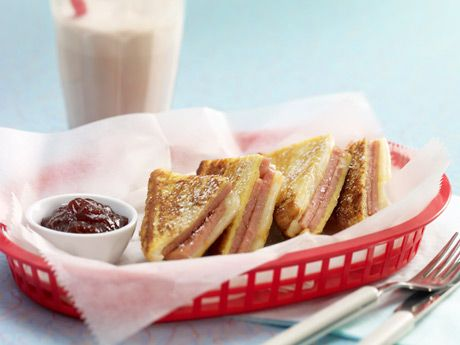 """Spam Monte Cristo .   It's not that artist who wraps islands with fabric. Apparently Monte Cristo comes from the French croquet-monsieur. While we don't speak French but we do speak spiced ham and in the French to spiced ham online translator, croquet-monsieur means roughly, """"ooh-la-la, spiced ham and cheese!"""""""