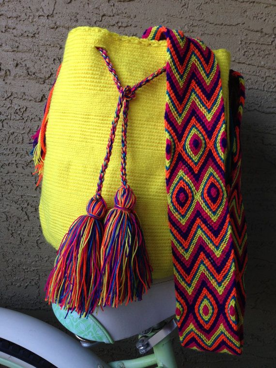 Large Handmade Wayuu mochila bag 35%OFF and by ColombianImports
