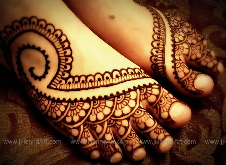 Mehndi Designs Grand : Indian bridal foot design by j henna