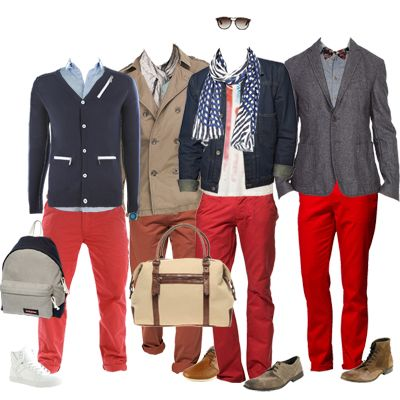 how to match red jeans